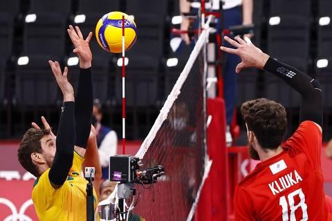 Brasil perde para russos no vôlei masculino e não vai à final das Olimpíadas pela 1ª vez desde 2000