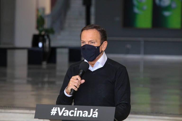 Governador João Doria anunciou a dissolução do Centro de Contingência
