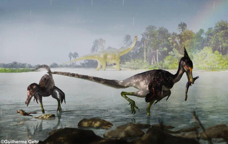 Cientistas descobrem novo dinossauro carnívoro brasileiro; veja imagens