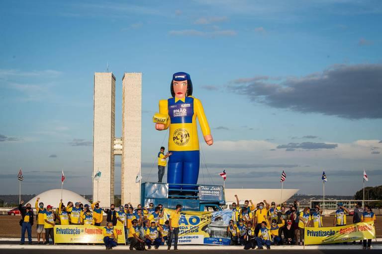 Ato contra privatização dos Correios nesta quinta-feira (5)