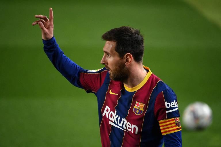 Messi começou a sair do Barcelona no momento do adeus de Neymar