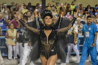 Desfile da Unidos de Vila Isabel na Marquês da Sapucaí, no Rio