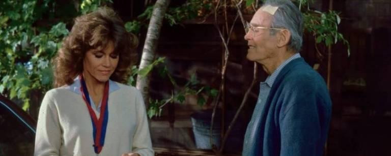 """Henry e Jane Fonda em """"Num Lago Dourado"""""""