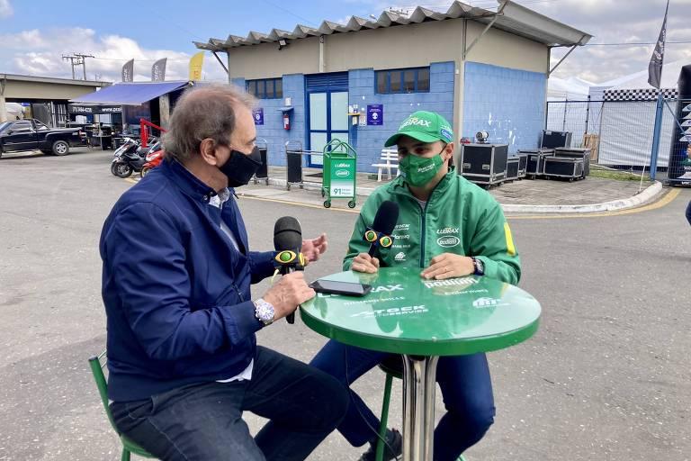 Stock Car, com Reginaldo Leme e Felipe Massa