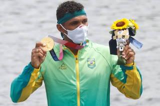 Canoe Sprint - Men's C1 1000m - Medal Ceremony
