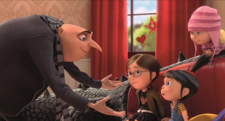 Gru e suas filhas em Meu Malvado Favorito 2
