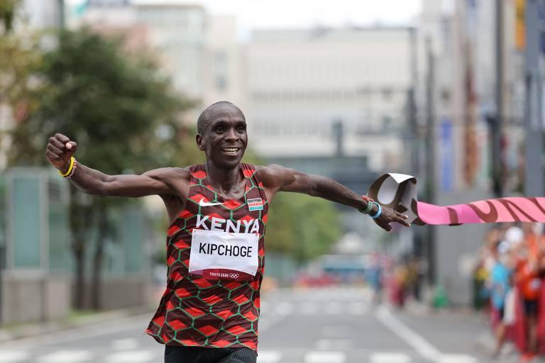 Kipchoge conquista bi olímpico na maratona das Olimpíadas