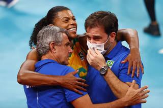 Volleyball - Women's Semifinal - Brazil v South Korea