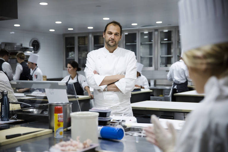 FILE -- Chef Daniel Humm at Eleven Madison Park in Manhattan, Nov. 9, 2017. Eleven Madison Park, often cited as among the world's best restaurants, will no longer serve meat or seafood when it reopens after the pandemic, Humm announced in May 2021. (Benjamin Norman/The New York Times)