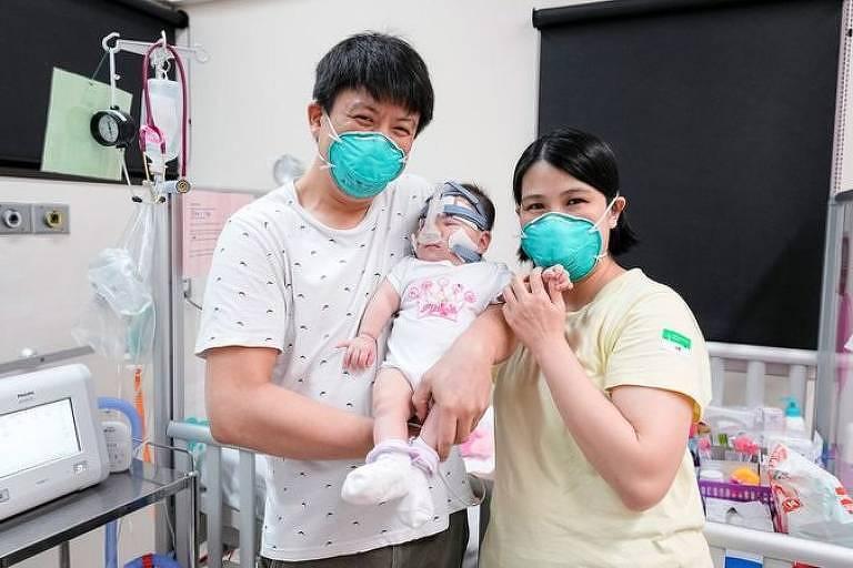 Depois de passar 13 meses no hospital, Yu Xuan recebeu alta