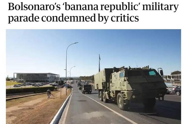 'Parada militar de república das bananas', diz inglês Guardian