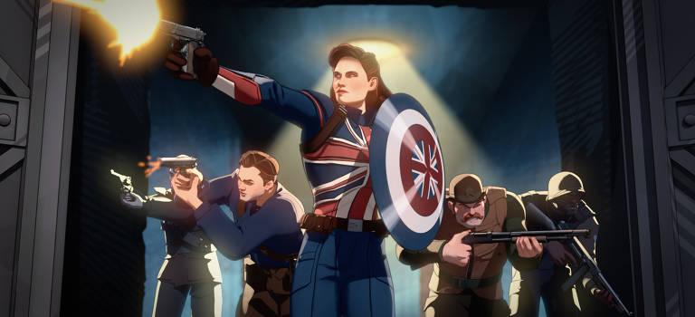 """Cena da série animada """"What If...?"""", parte do Universo Cinematográfico Marvel, do Disney+"""