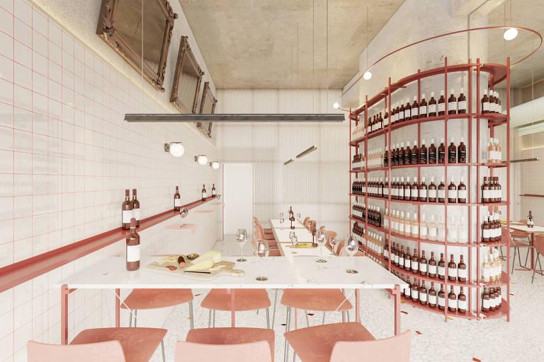 Projeção em 3D do Paloma, que abre em setembro no edifício Copan; os arquitetos responsáveis são Américo Fajardo, Breno Felisbino e Lucas Scuratto