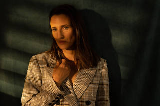 The actor Camille Cottin in Cannes, France, July 12, 2021. (Tania Franco Klein/The New York Times)