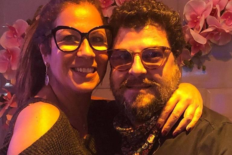 A atriz Carla Daniel com o marido, Sergio Stamile