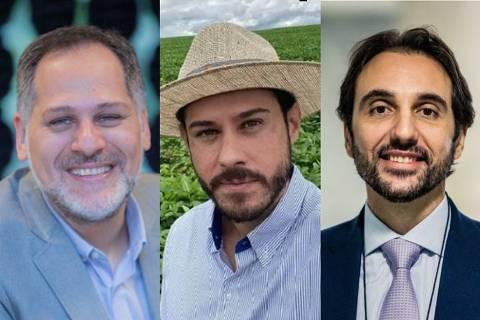 Eduardo Bastos, Henrique Fiorese e Carlo Pereira participam do segundo programa da série de podcast Agro, Inovação e Sustentabilidade