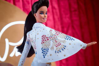 A special edition Elvis Barbie doll