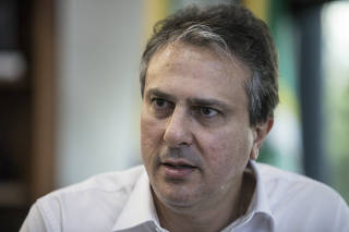Camilo Santana (PT), governador do Ceará, durante entrevista