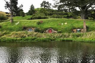 The Hobbiton movie set is pictured in Matamata