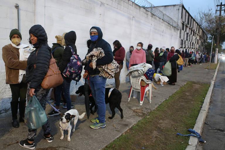 Donos de pets passam madrugada em fila para atendimento veterinário público em SP