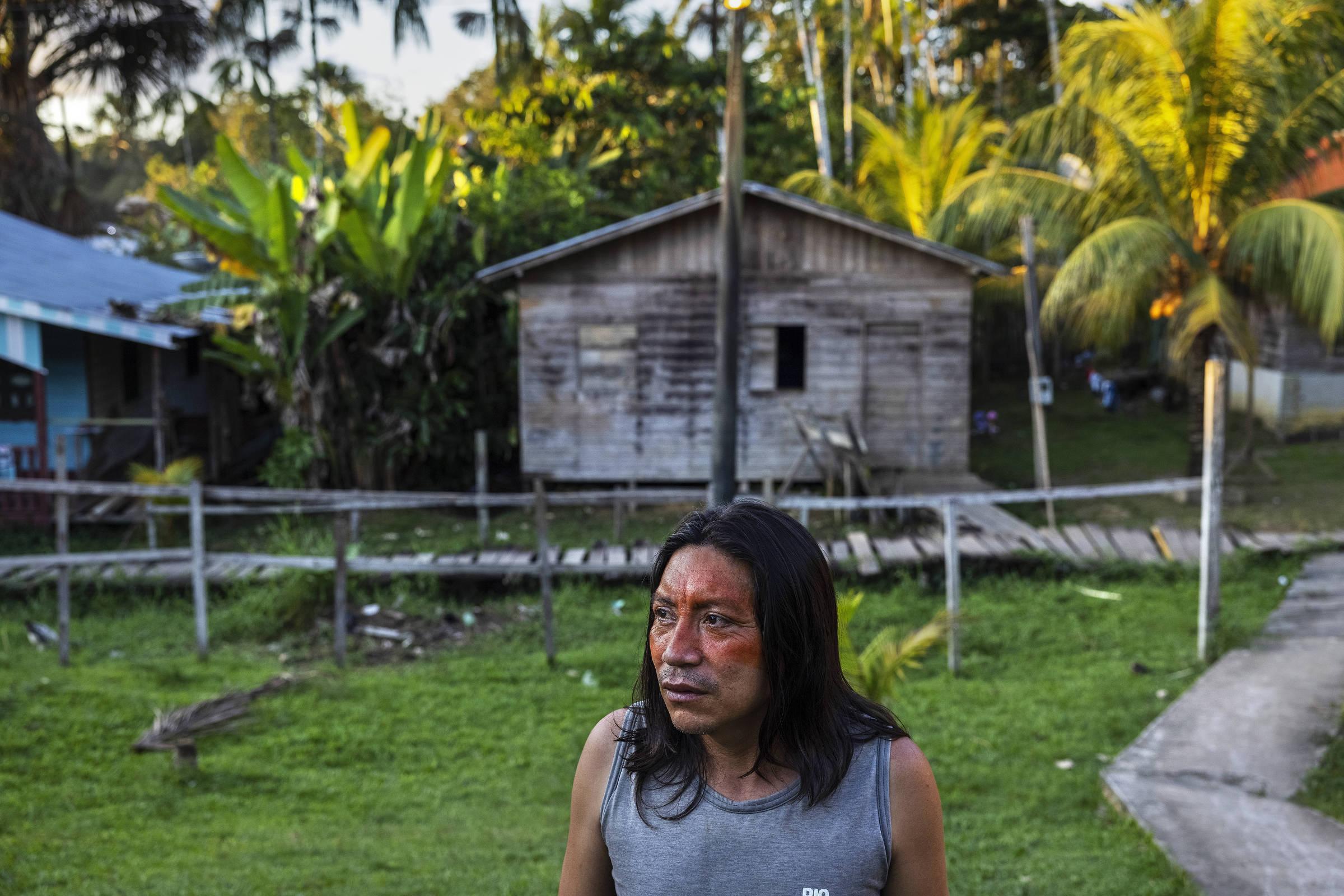 O pastor Marcos Mayoruna, o Pepe, morador de Atalaia do Norte