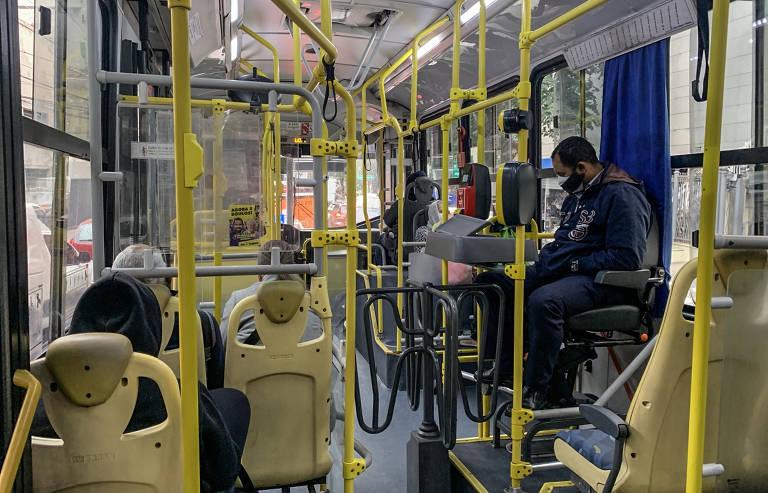 Ônibus na cidade de São Paulo, onde a retomada da demanda foi maior
