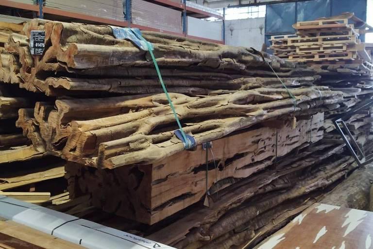 Força-tarefa de SP apreende 500 metros cúbicos de madeira ilegal