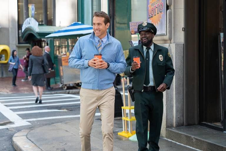 Novo filme da Disney, 'Free Guy - Assumindo o Controle', coloca Ryan Reynolds em um videogame
