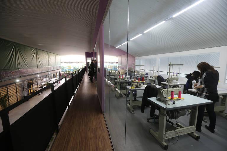 Novo espaço do projeto Costurando Sonhos Brasil, em Paraisópolis (zona sul da cidade de São Paulo)
