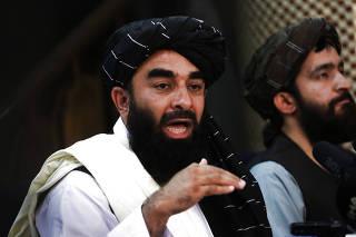 AFGHANISTAN-KABUL-TALIBAN-PRESS CONFERENCE