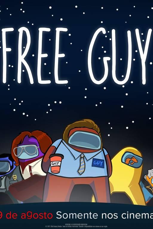 Confira outros pôsters de 'Free Guy' inspirados em jogos