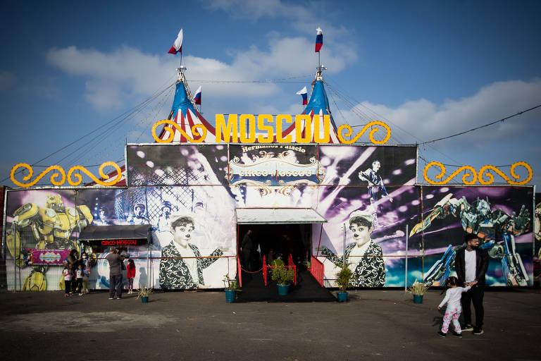O circo Moscou, em Itaquera, São Paulo, voltou a funcionar apos interromper as apresentações por conta do coronavírus.