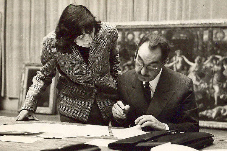 Lina Bo Bardi e Pietro Maria Bardi na década de 1950