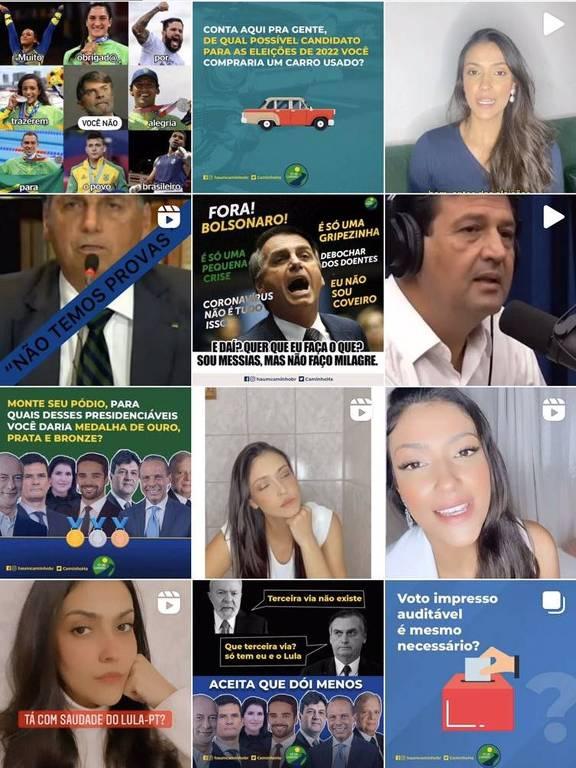 Montagem postada nas redes pelo movimento Há um Caminho, que defende uma terceira via para as eleições de 2022.