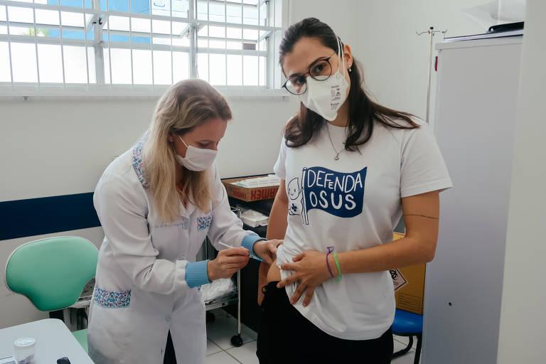 Vacinação no glúteo