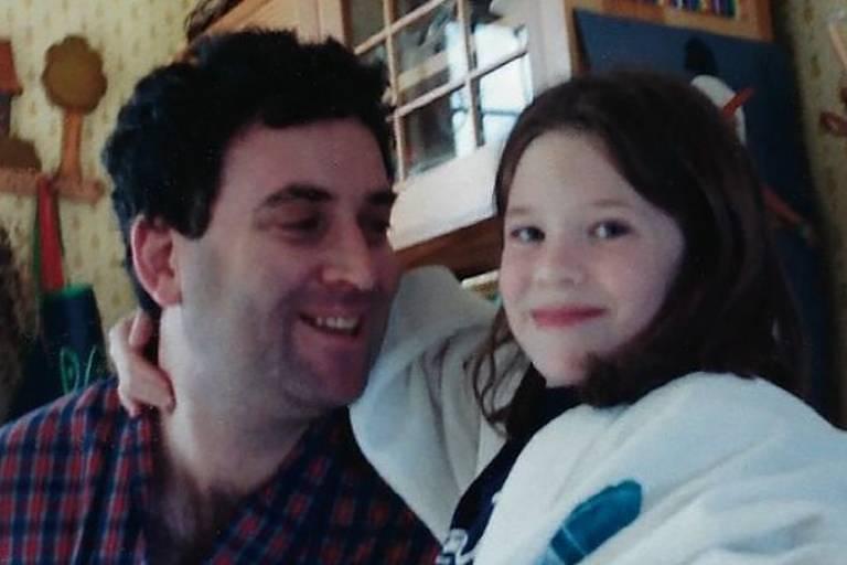 Sara Faith Alterman com o pai, Ira