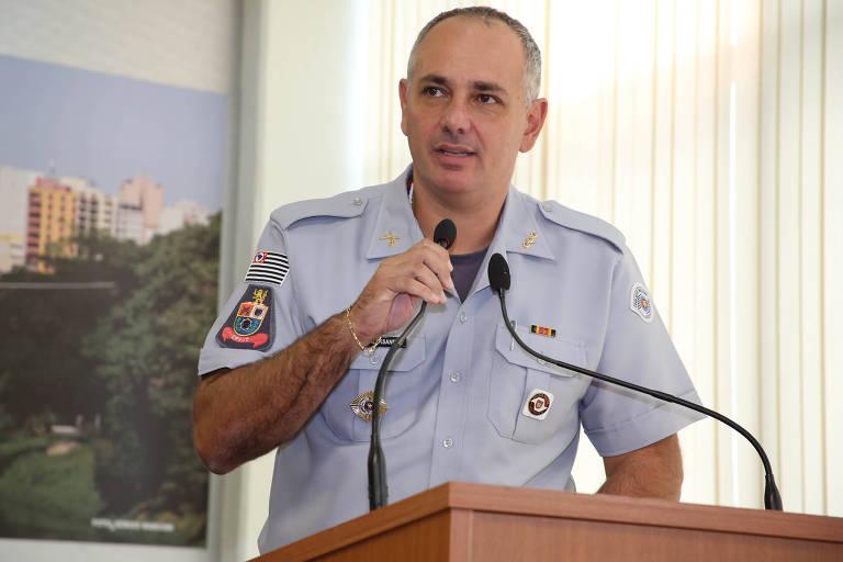 O coronel Aleksander Lacerda, afastado de cargo de comando da PM