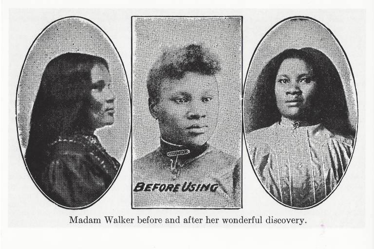 Primeira propaganda da empresa Madam C.J. Walker de que se tem registro, de aproximadamente 1890