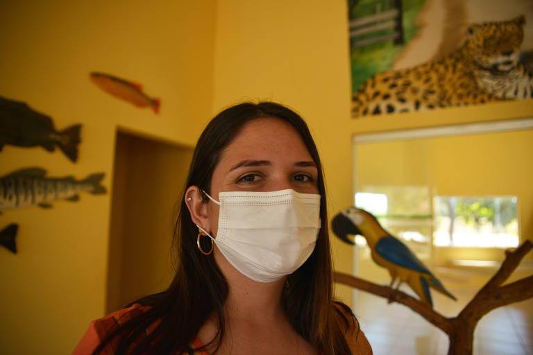 Danielle de Assis Carvalho, 31, secretária de meio ambiente de Poconé, que atou no combate ao fogo