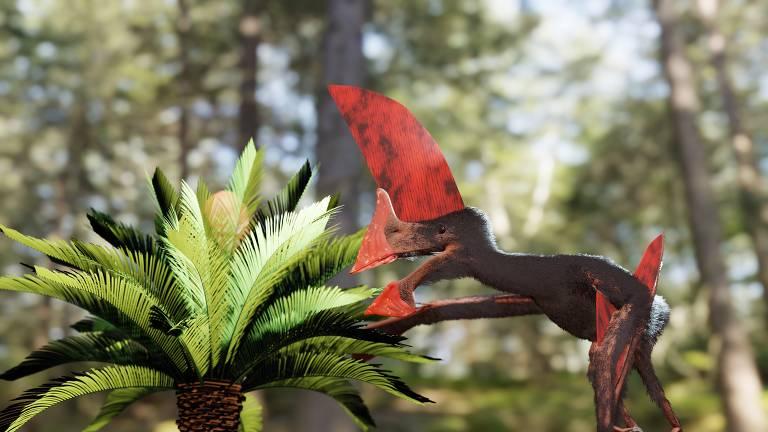 Fóssil de pterossauro confiscado do tráfico é um dos mais bem preservados da espécie