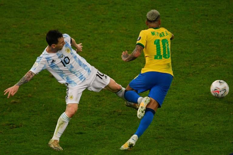 Jogo físico da Argentina é desafio para Brasil seguir 100% nas Eliminatórias