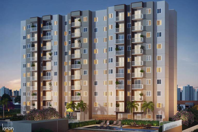fachada de empreendimento imobiliário