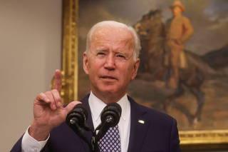 U.S. President Joe Biden speaks about Afghanistan at the White House in Washington