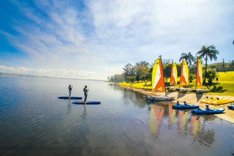 Instalações do resort Club Med Lake Paradise, localizado em Mogi das Cruzes, a cerca de uma hora de São Paulo