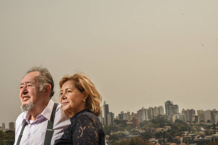 O  casal Raul e Nadina Gipstejn, que fazem graduação online de Ciências Contábeis