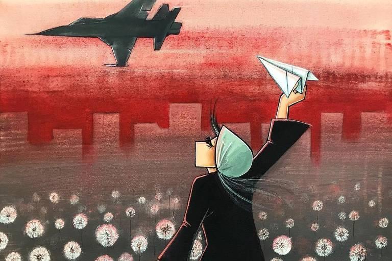 Veja fotos das obras da grafiteira afegã Shamsia Hassani