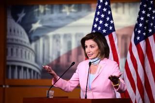 Speaker Pelosi Speaks To The Media In Weekly Press Conference