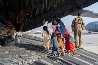 Evacuation from Hamid Karzai International Airport in Kabul