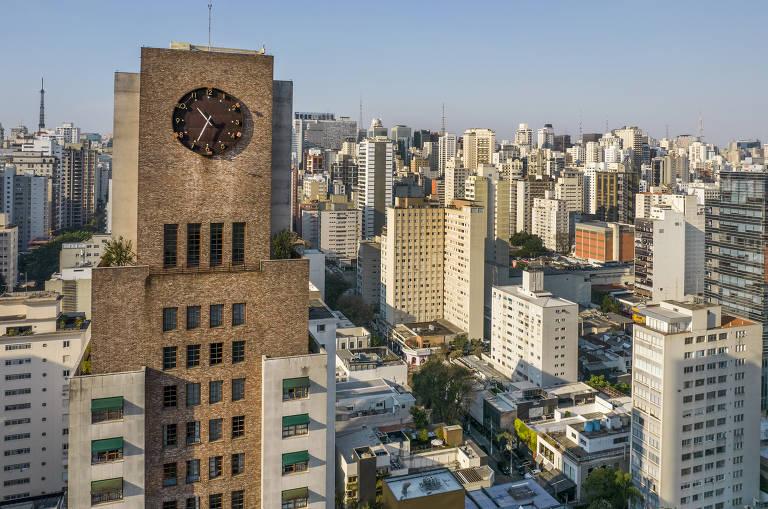 Vista aérea de prédios do Jardim Paulista e do bairro Cerqueira César