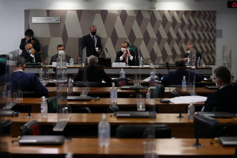 Sessão da CPI da Covid no último dia 17